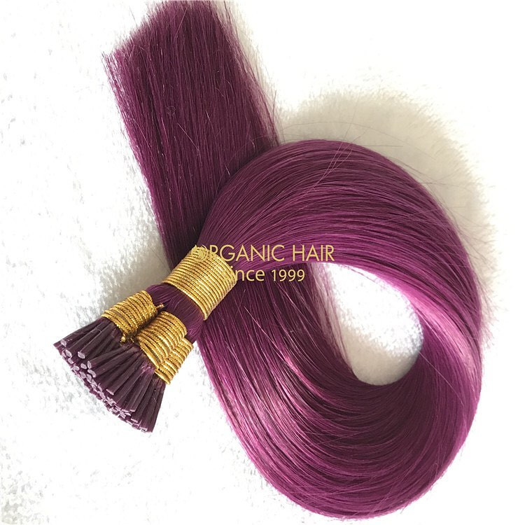 Colored discount pre-bonded hair extensions with best quality A212
