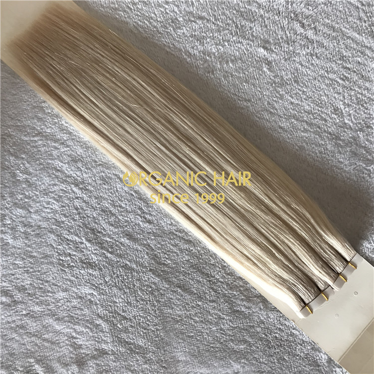 Premium hair tape extensions ashy blonde  H147