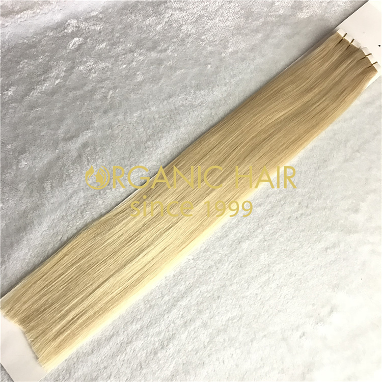 Remy straight highlight skin weft tape in hair extensions wholesale V20