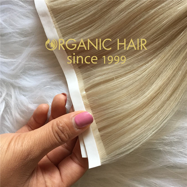 High quality custom color pu skin weft hair extensions  CC120