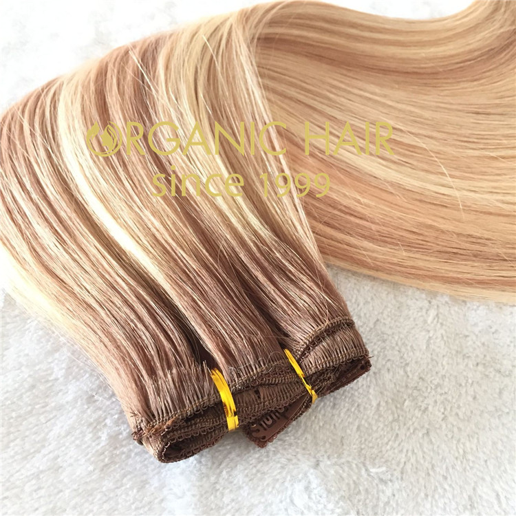 The best human hair clip in extensions colorT8-18/613  C56
