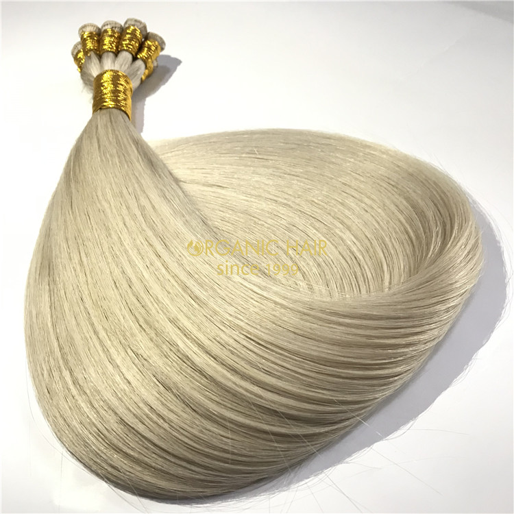Full cuticle intact remy handtied weft factory wholesale J12