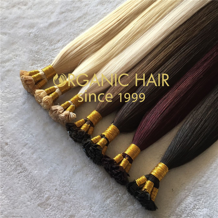 Flat tip hair extensions  C57