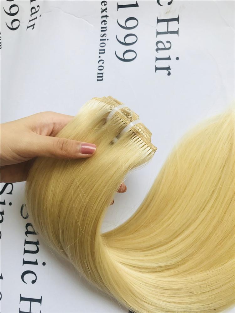 100 Virgin Human Hairdouble Drawn Clip Remy Hair Extensions A18