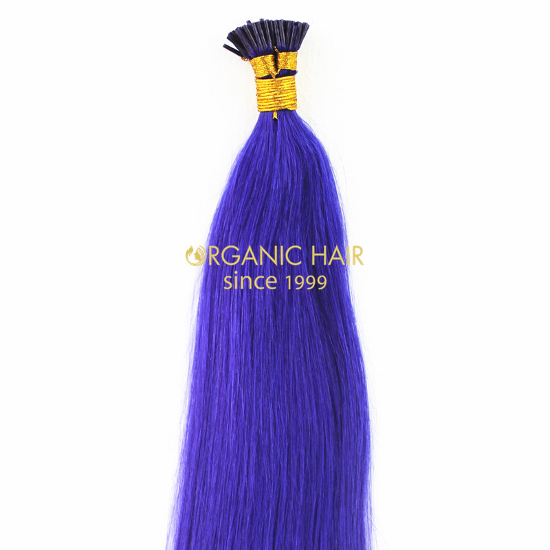 Indi remy hair i tip purple hair extensions