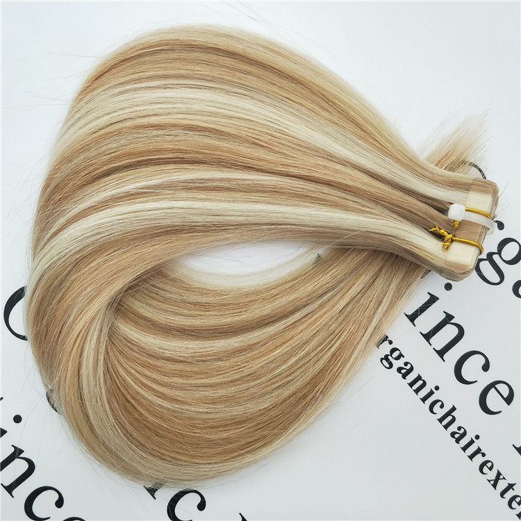Best quality  remy hair, double drawn tape in hair extensions J17