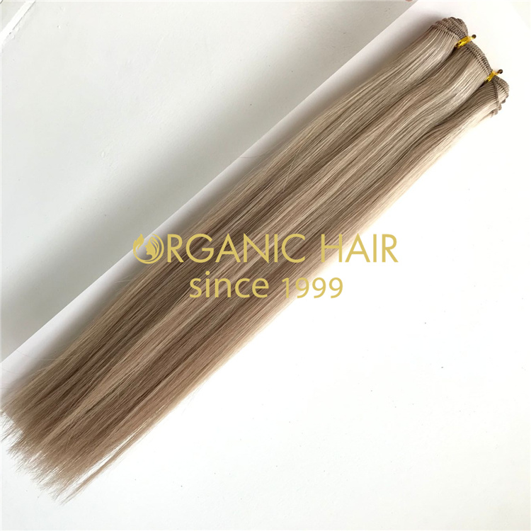 Wholesale strong durable machine weft hair extensions V58