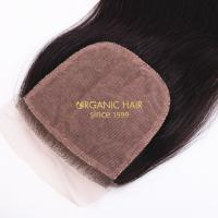 Unprocessed one piece hair extensions silk base closure