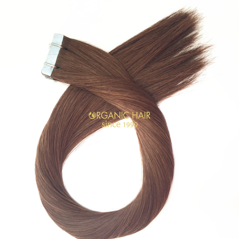 Top grade human hair extensions cheap tape hair