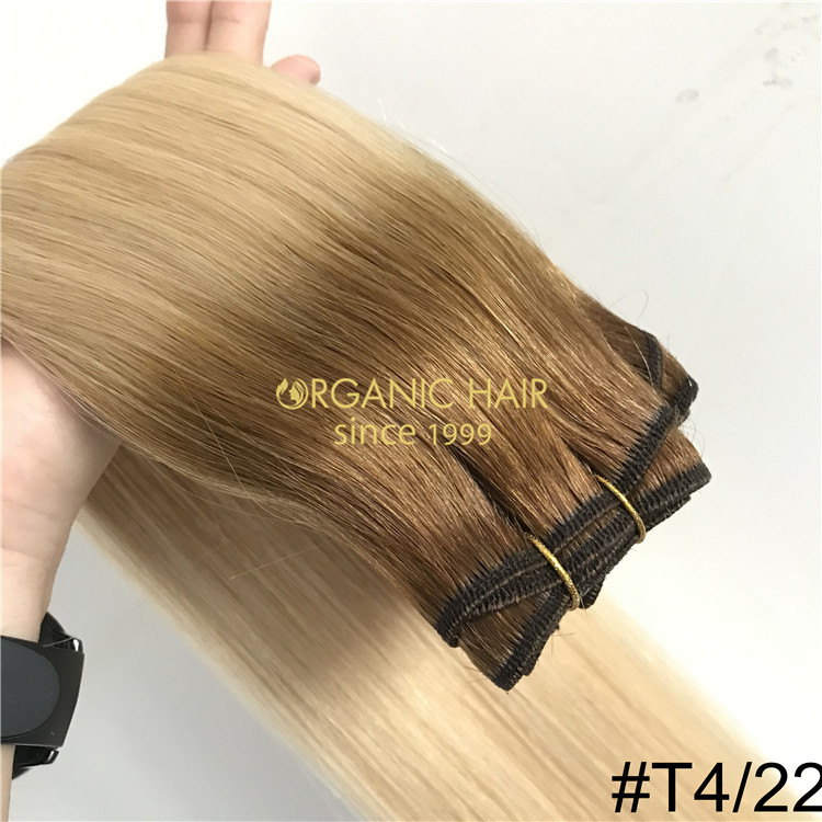 High quality rooted machine tied weft Extenions  H294