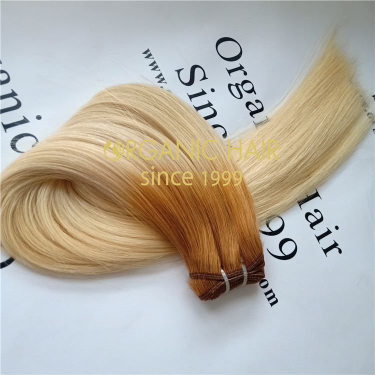#8/60 double drawn remy high quality russian  hair weft A73