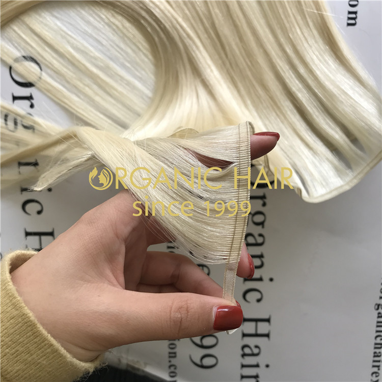 double drawn human hair flat weft to order:ombre and highlighted  H121