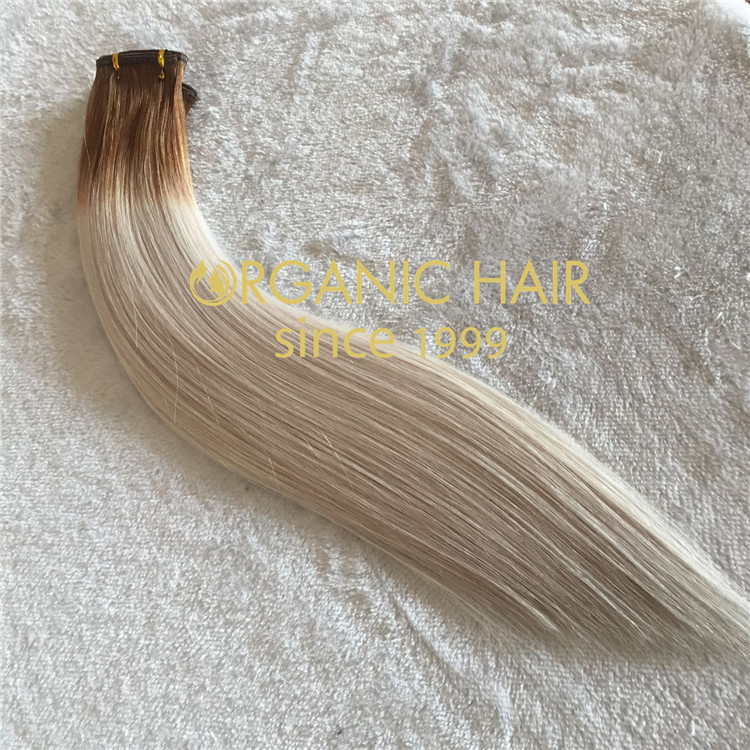 New product lace flat weft hair extensions C51