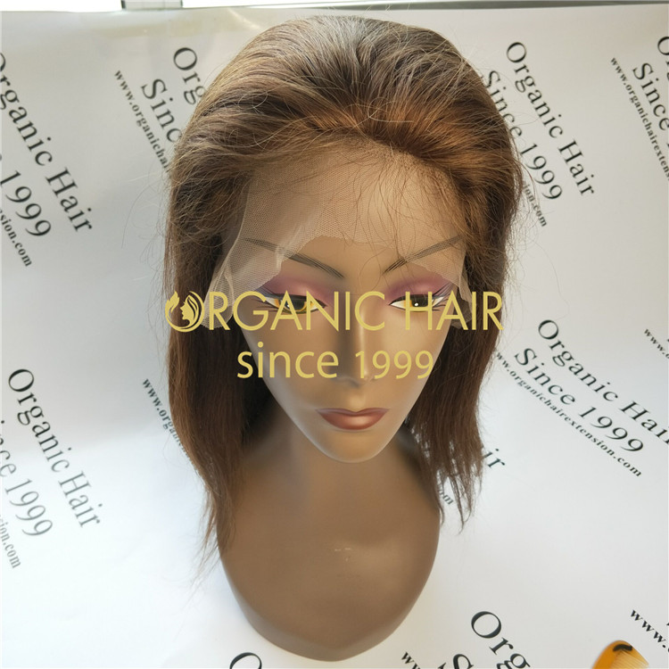 Free style silk base straight natural color full lace wigs,lace frontal wigs hair wholesale factory in China A41