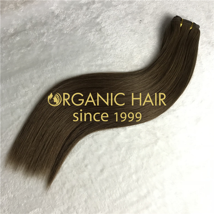 Wholesale durable silky soft machine weft hair extensions V22