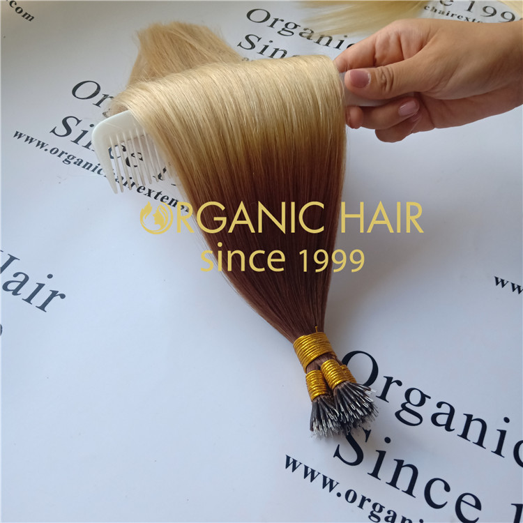 T6/20,never tangle,full cuticle intact nano hair extension A68