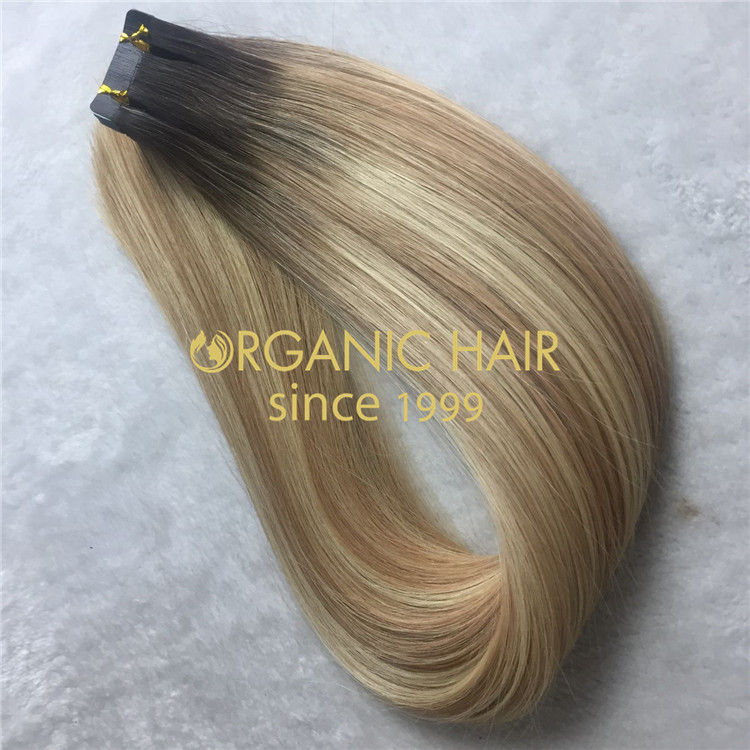 Piano color #12/60 human tape in hair extensions X112