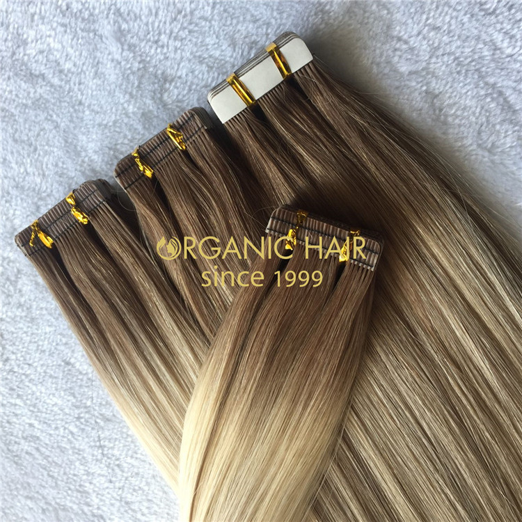 Custom ombre highlights tape extensions for wholesale-H179