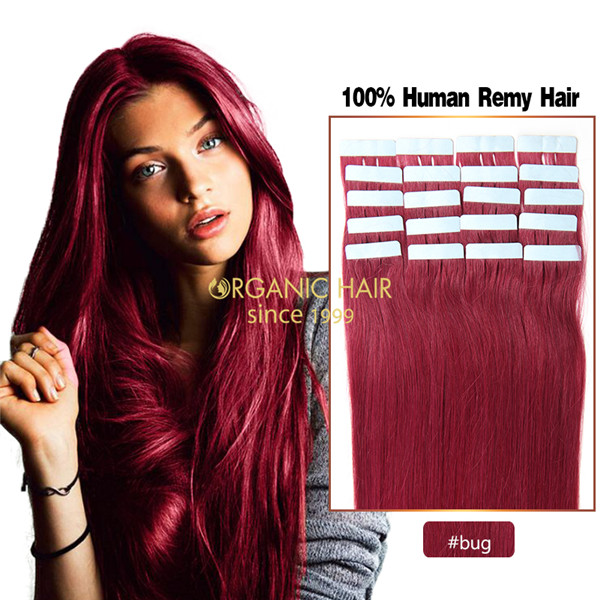 Burgundy hair extensions tape hair extensions melbourne