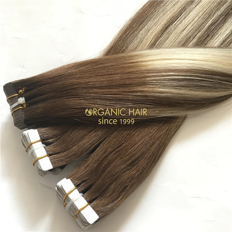 Human best tape in hair extensions and good reviews X186