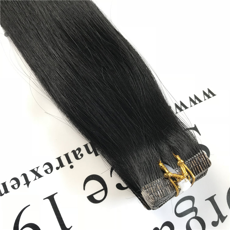 Black color invisible tape in hair extensions H59