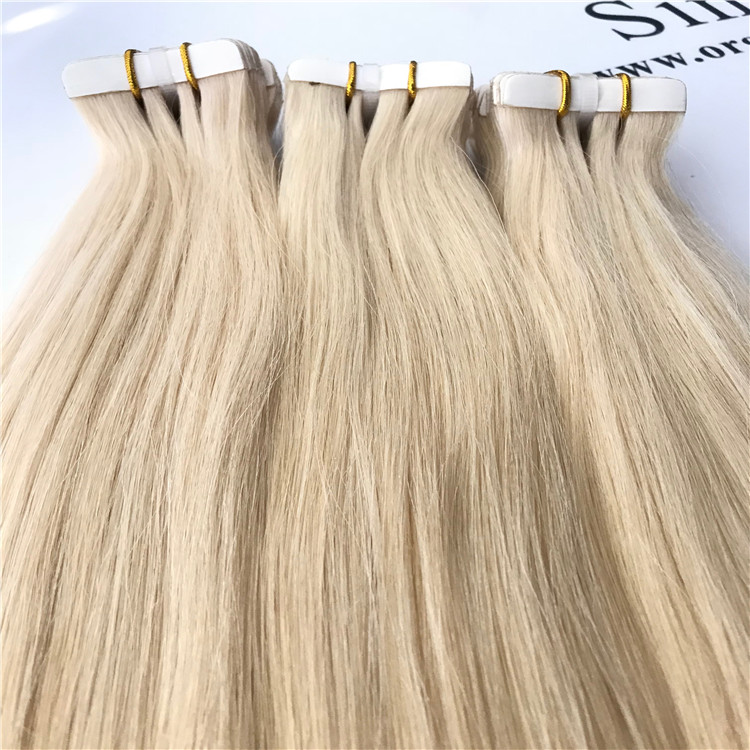 Blond tape in hair extension H25