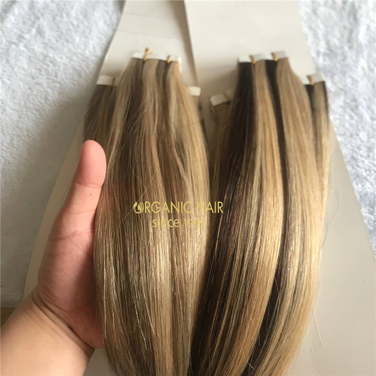 Tape In Hair Extensions - 100% Remy Cuticle Human Hair Extensions A188