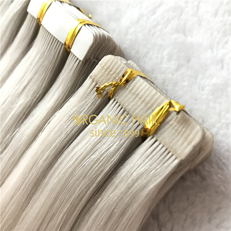 Full cuticle 100% human tape in hair extension on sale I11