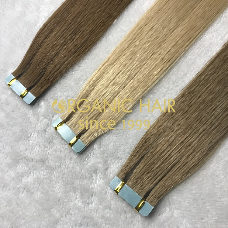 100% genuine remy human high quality tape in hair on sale I7