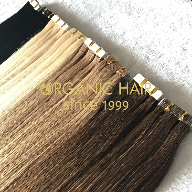 100% genuine remy human tape in hair extension I3