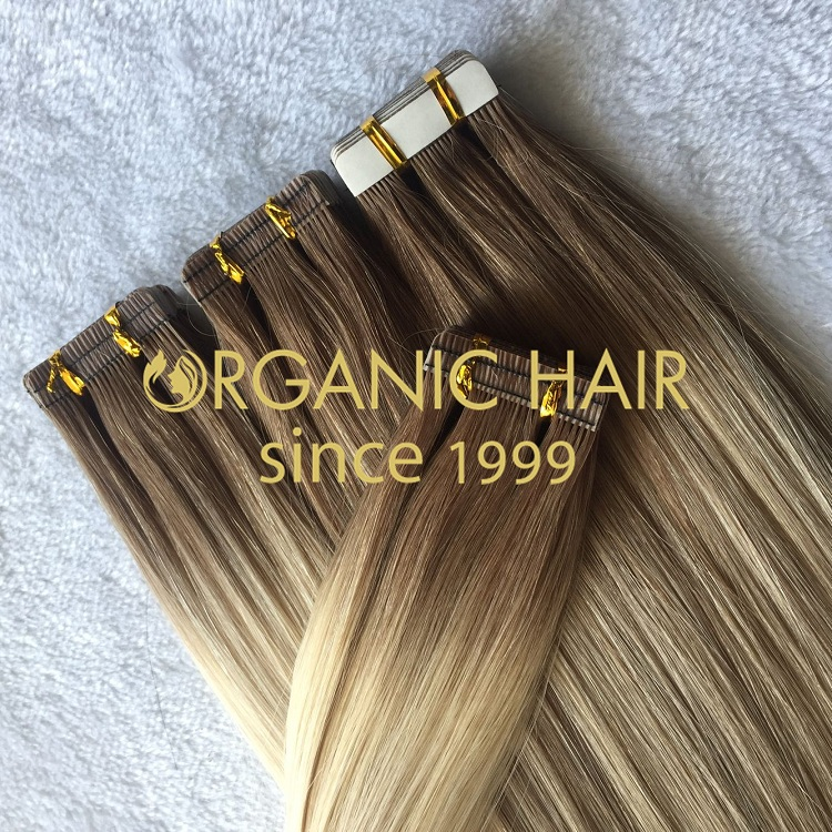 High quality balayage color tape in extension hair on sale I13