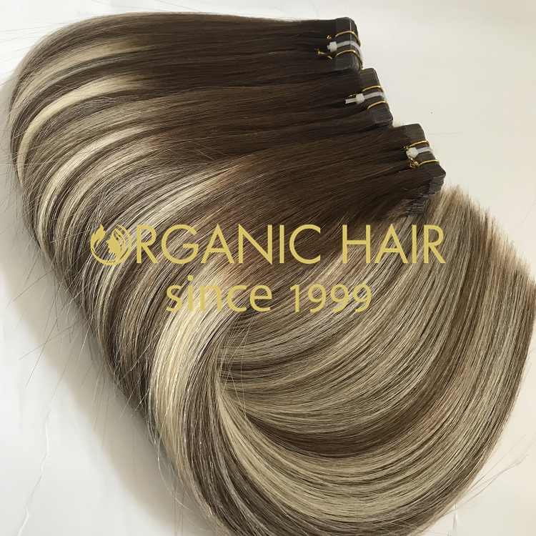 High quality 100% human remy tape in hair extension I8