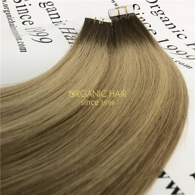 Cheap tape in hair extension Ombre color X70