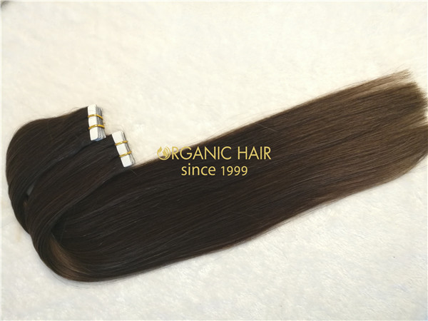 Wholesale human remy hair tape in extension X10