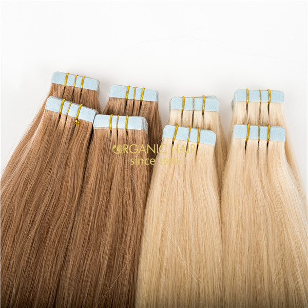 Human hair extensions babe tape in extensions tape tabs