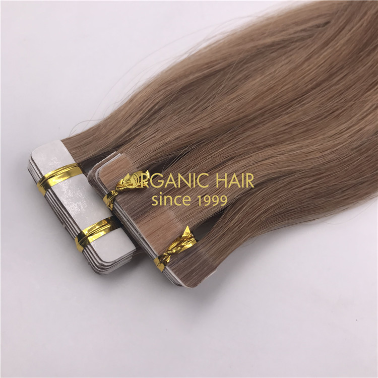 Wholesale human full cutilce tape in hair and good reviews X329