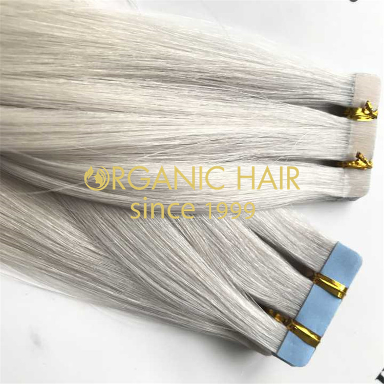 Ash blonde tape in hair extensions is available H118