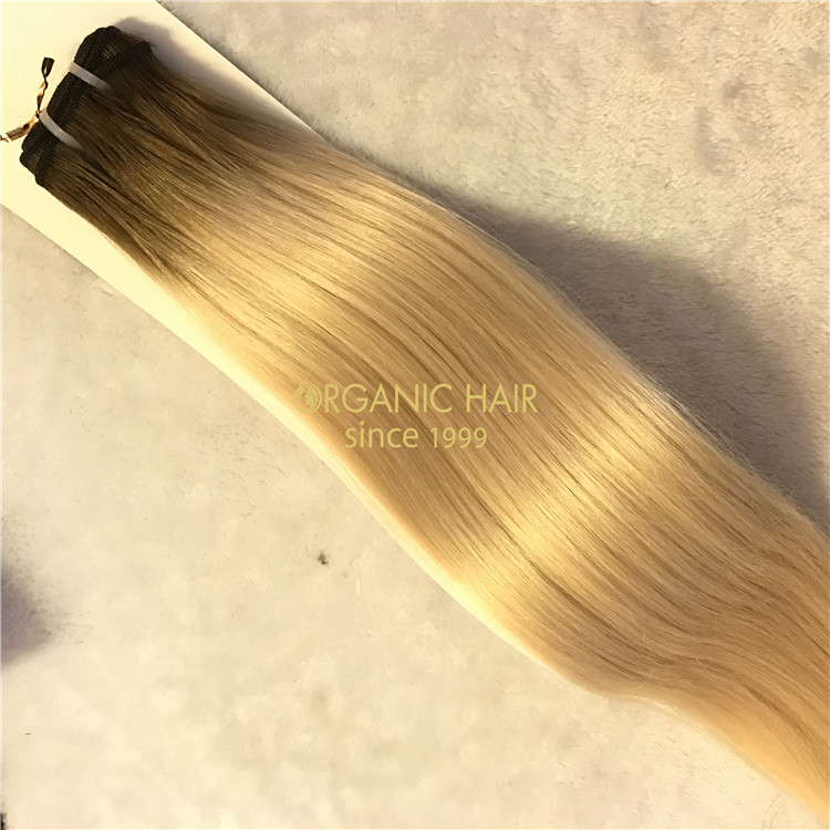 The best human remy hair extensions ombre color # 4/60 X71