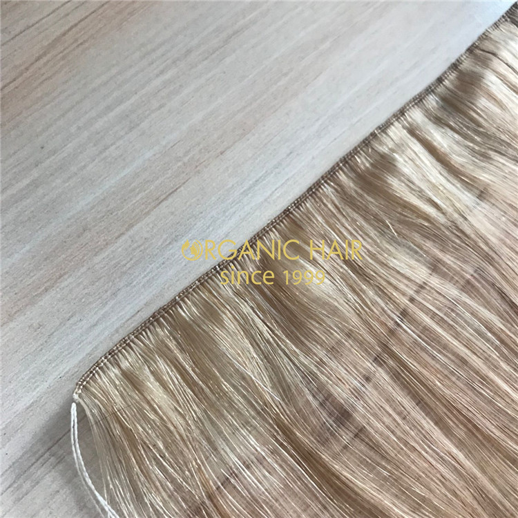 The Healthiest hair extensions-Full cuticle remy human russian hand tied wefts A173