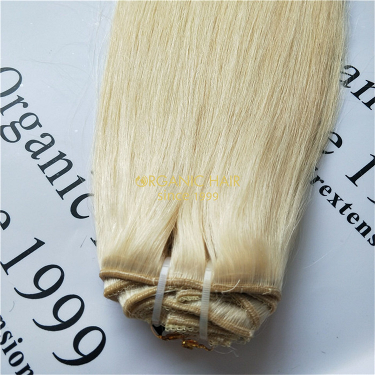 Full cuticle remy human clip in hair extensions wholesale V30