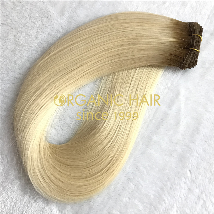 Wholesale 2021 UK hot-sale best remy human flat weft hair V32