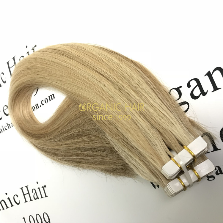Remy human hair tape in weft vendor V55