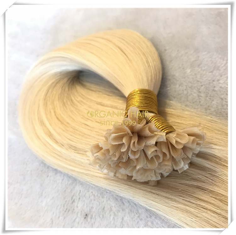 Double drawn top quality U tip hair extensions CNY029
