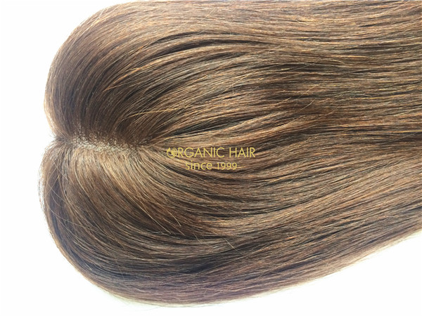 Organic toupee hair pieces for womens thinning hair