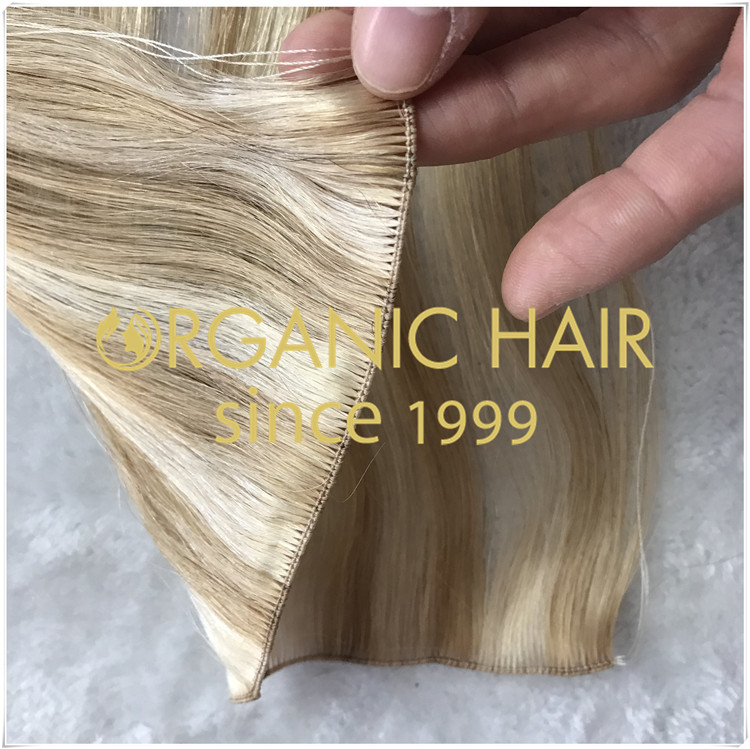 Create cutable hand tied weft based on the traditional hand tied Weft C003NEWS