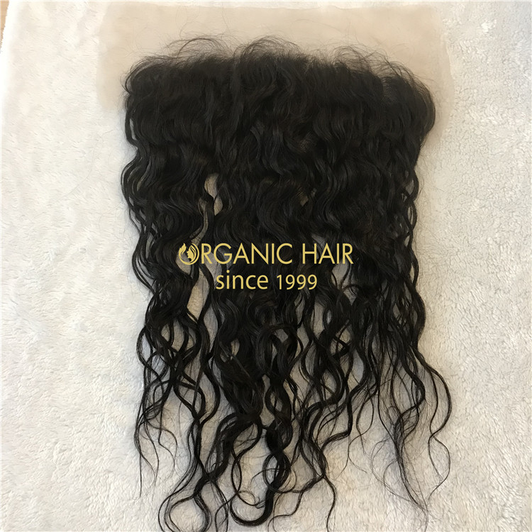 Wholesale transparent 13*6 lace frontal natural wave X81