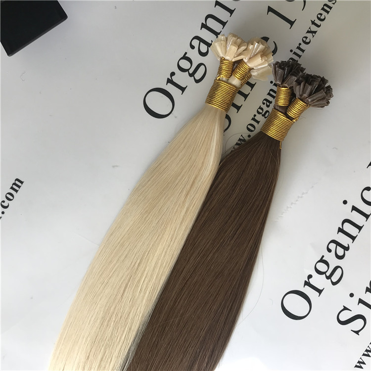 Real remy double drawn hair-U tip hair extensions H120