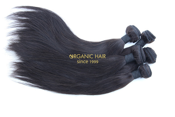 Wholesale virgin brazilian straight human hair extensions