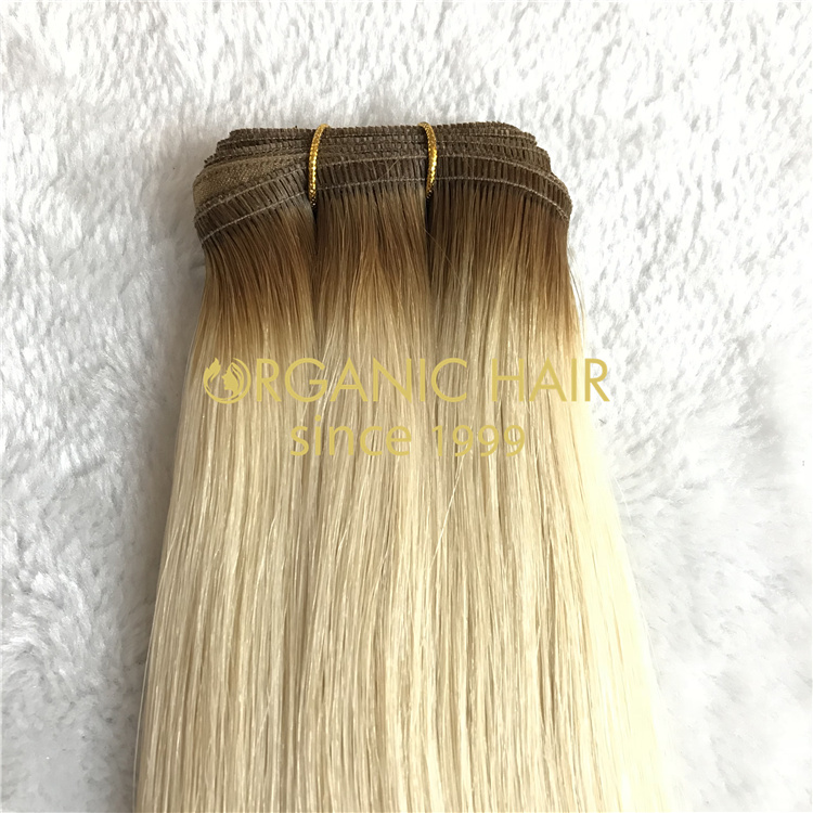 Wholesale seamless remy huamn flat weft hair V68