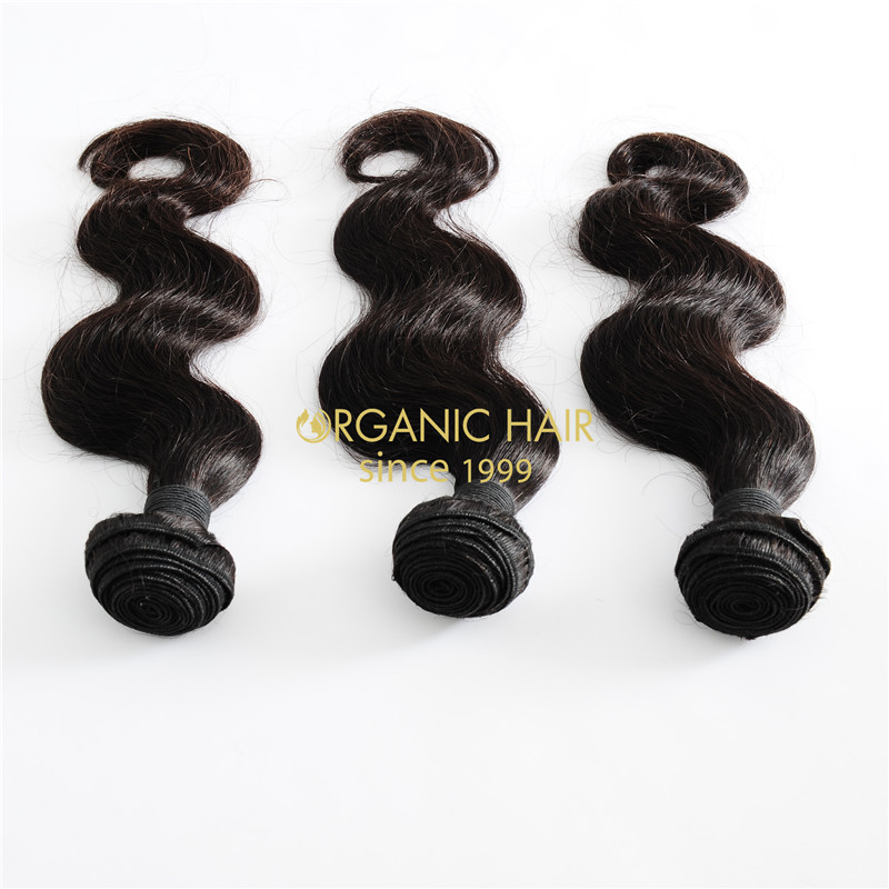 Virgin hair weave hair extensions with lace front weave
